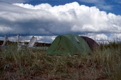 Our two tents at Lake Coville