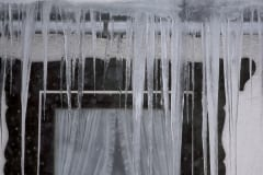 Icicle at the window