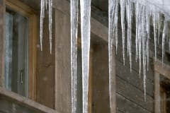Icicle at the roof